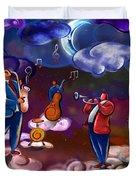 Jazz In Heaven Duvet Cover by Bedros Awak