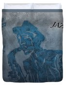 Jazz Man Duvet Cover by Dan Sproul