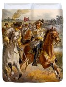 Jeb Stuart Civil War Duvet Cover by Henry Alexander Ogden
