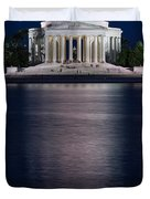 Jefferson Memorial Washington D C Duvet Cover by Steve Gadomski