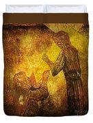 Jesus Meets His Mother Via Dolorosa 4  Duvet Cover by Lianne Schneider