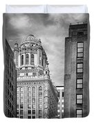 Jewelers' Building - 35 East Wacker Chicago Duvet Cover by Christine Till