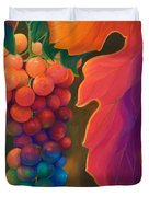 Jewels Of The Vine Duvet Cover by Sandi Whetzel