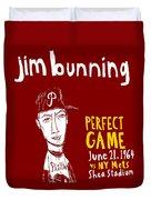 Jim Bunning Philadelphia Phillies Duvet Cover by Jay Perkins