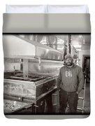 Jimmy At Mt Cube Sugar Farm Duvet Cover by Edward Fielding