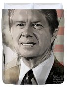 Jimmy Carter Duvet Cover by Corporate Art Task Force