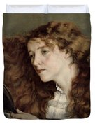 Jo The Beautiful Irish Girl Duvet Cover by Gustave Courbet