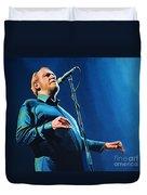 Joe Cocker Duvet Cover by Paul Meijering