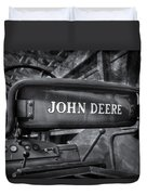 John Deere Tractor Bw Duvet Cover by Susan Candelario