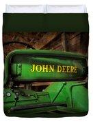 John Deere Tractor Duvet Cover by Susan Candelario