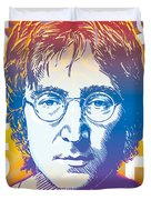 John Lennon Pop Art Duvet Cover by Jim Zahniser