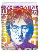 John Lennon Pop Art Duvet Cover by Jim Zahniser