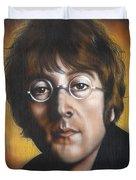 John Lennon Duvet Cover by Tim  Scoggins
