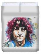John Lennon..up Close Duvet Cover by Chrisann Ellis