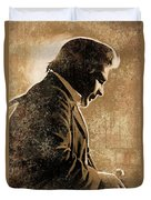 Johnny Cash Artwork Duvet Cover by Sheraz A