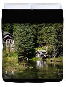 Johnny Sack Cabin Duvet Cover by Robert Bales