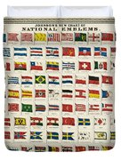 Johnsons New Chart of National Emblems Duvet Cover by Nomad Art And  Design