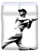 Joltin Joe Dimaggio  Joe Dimaggio Duvet Cover by Iconic Images Art Gallery David Pucciarelli