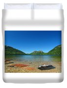 Jordan Pond And The Bubbles Duvet Cover by Juergen Roth