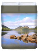 Jordan Pond Duvet Cover by Roupen  Baker