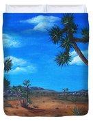 Joshua Tree Desert Duvet Cover by Anastasiya Malakhova