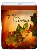 Joy Of Autumn Duvet Cover by Lourry Legarde