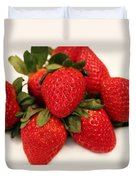 Juicy Strawberries Duvet Cover by Barbara Griffin