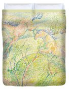 Jumping Horses Duvet Cover by Franz Marc