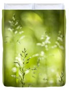 June Green Grass Flowering Duvet Cover by Elena Elisseeva