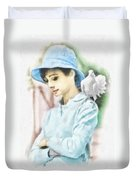 Just Audrey Duvet Cover by Mo T
