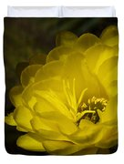 Just Call Me Mellow Yellow  Duvet Cover by Saija  Lehtonen