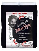 Just In Time Duvet Cover by Mel Thompson