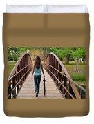 Just Walk Away Renee Duvet Cover by Laura Fasulo