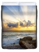 Kaena Point State Park Sunset 2 - Oahu Hawaii Duvet Cover by Brian Harig