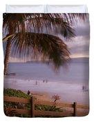 Kai Makani Hoohinuhinu O Kamaole - Kihei Maui Hawaii Duvet Cover by Sharon Mau