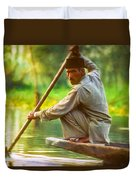 Kashmir Dream Impasto Duvet Cover by Steve Harrington