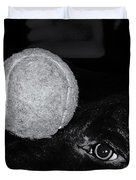 Keep Your Eye On The Ball Duvet Cover by Roger Wedegis