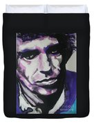 Keith Richards Duvet Cover by Chrisann Ellis