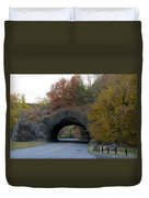 Kelly Drive Rock Tunnel In Autumn Duvet Cover by Bill Cannon