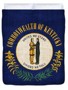 Kentucky State Flag Duvet Cover by Pixel Chimp