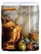 Kettle - Cherished Memories Duvet Cover by Mike Savad