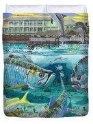 Key Largo grand slam Duvet Cover by Carey Chen