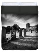 Kilmartin Parish Church Duvet Cover by Dave Bowman