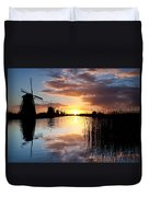 Kinderdijk Sunrise Duvet Cover by Dave Bowman