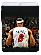 King James Duvet Cover by Florian Rodarte
