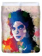 King Of Pop Duvet Cover by Anthony Mwangi