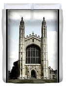 King's College Chapel - Poster Duvet Cover by Stephen Stookey