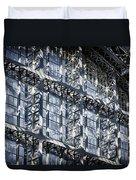 Kings Cross St Pancras Windows Duvet Cover by Joan Carroll