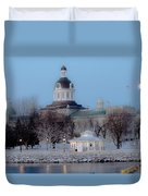 Kingston City Hall Duvet Cover by Michel Soucy