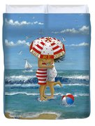 Kiss Me Quick Duvet Cover by Peter Adderley